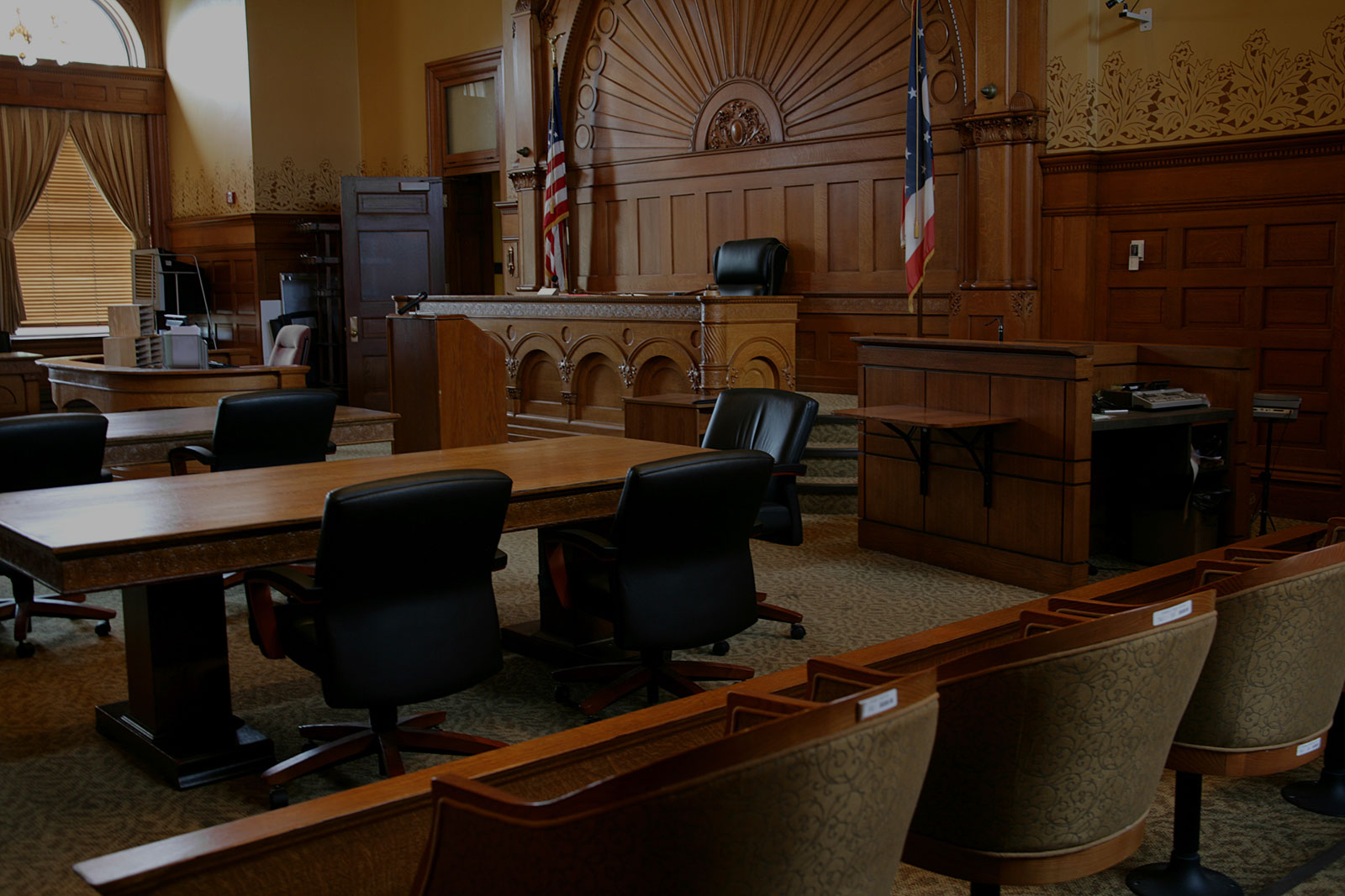 Practice Areas Header Background - Empty Courthouse
